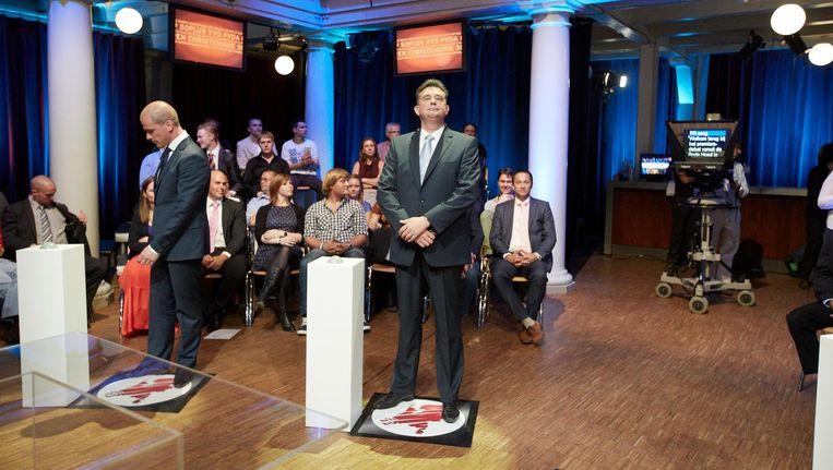 Na het vorige premiersdebat begon de opmars van de PvdA, tegenover een zekere implosie van de SP. Beeld Martijn Beekman