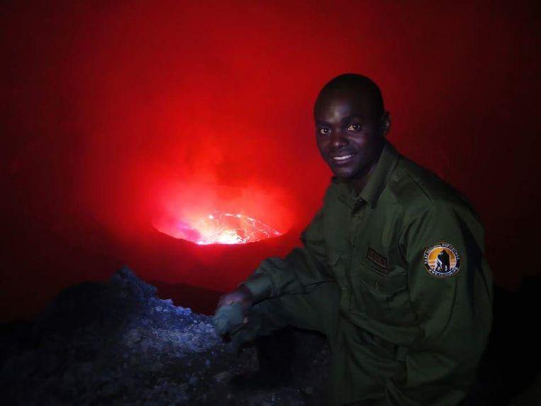 Dudunyabo Machongani Célestin, ranger in het Virunga-park in Congo, werd in juli vermoord. Beeld RV
