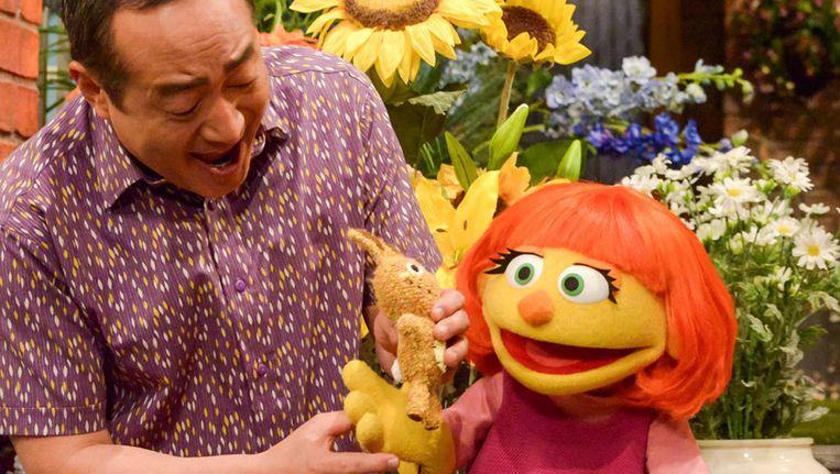 De autistische muppet Julia Beeld ap