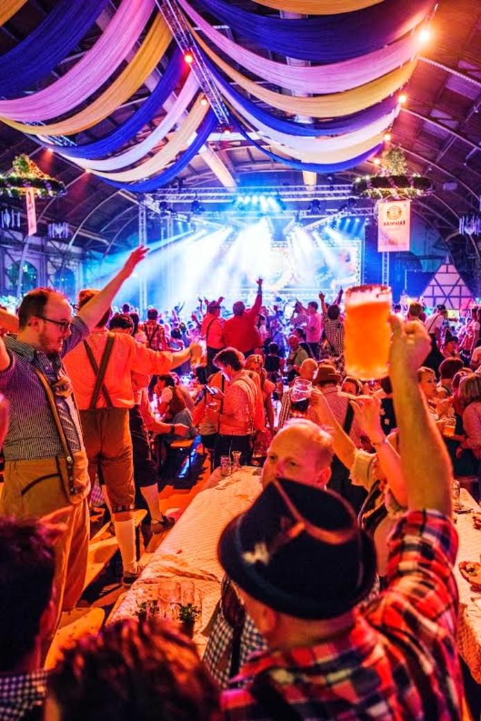 Het Oktoberfest in Tilburg. Foto John Schouten/BeeldWerkt