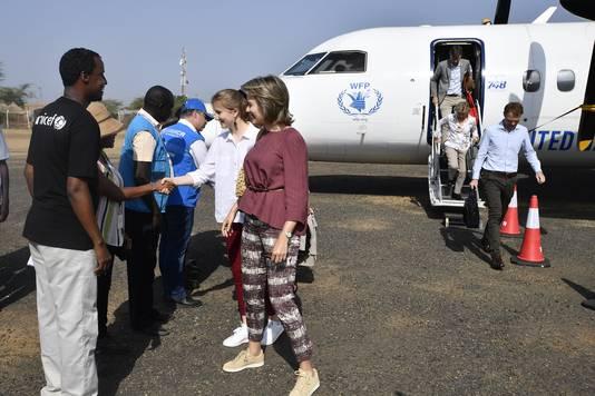 La princesse Elisabeth et la reine Mathilde au camp de réfugiés de Kakuma, au Kenya.
