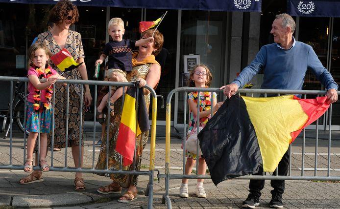 De familie Slaets bracht de Belgische driekleur mee