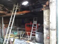 Brand in schuur in Soerendonk na slijpwerkzaamheden