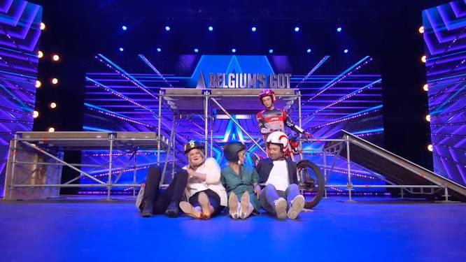 'Belgium's Got Talent'-jury staat doodsangsten uit tijdens motorstunt vol halsbrekende toeren
