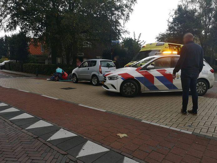 De fietser raakte gewond op de kruising van de Molenweg met de Europalaan in Renkum.