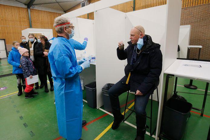 Eerder werd in sporthal De Toekomst gebruikt voor de pilot grootschalig testen in Bunschoten.