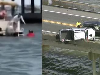 Man springt van negen meter hoge brug om peuter te redden die uit truck werd geslingerd