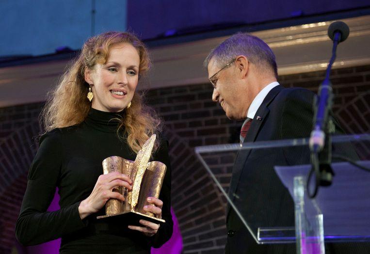 Schrijfster Marente de Moor heeft de Jan Wolkers Prijs gewonnen voor het boek Foon. Beeld ANP Kippa