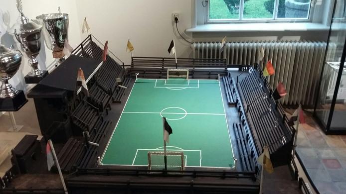 De maquette van het stadion aan de Bornsestraat