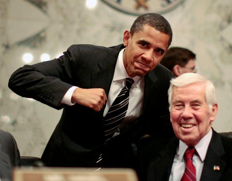 Senator Richard Lugar met president Obama. Beeld null