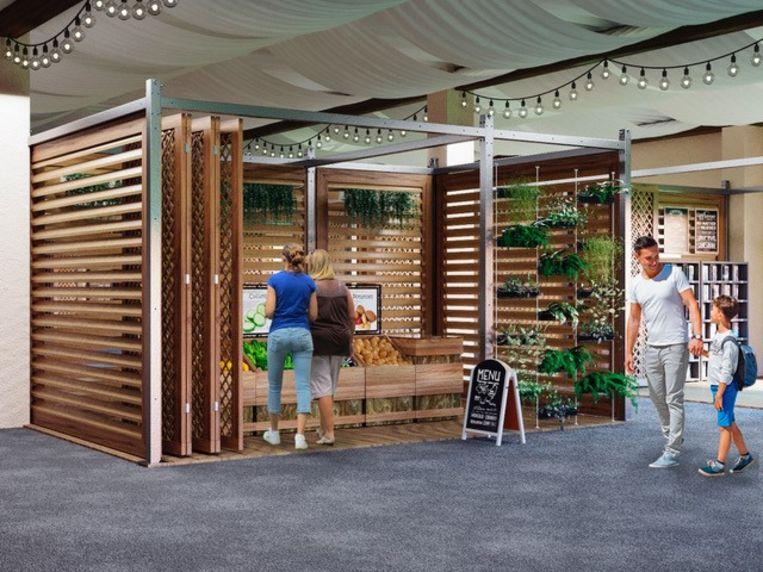 De shops van 12 tot 28 m² worden ingevuld door starters, pop-ups, services, outlets en webshops.