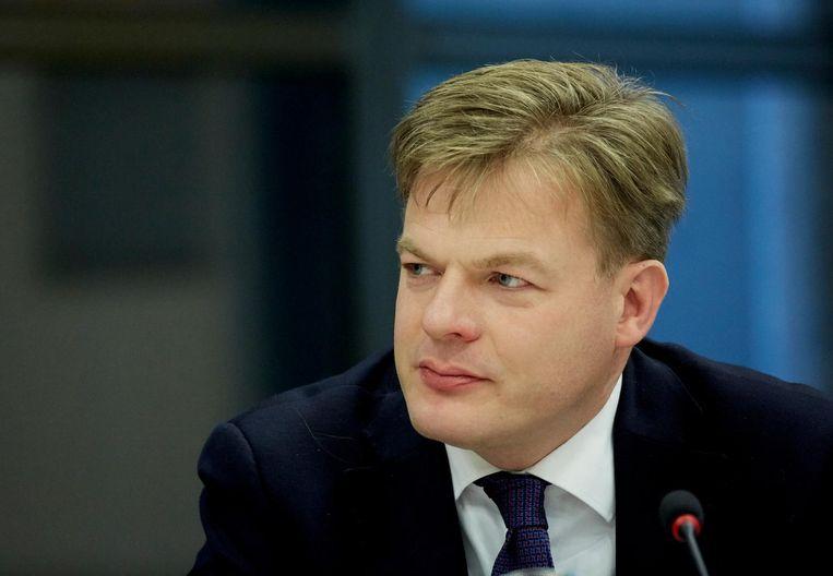 CDA-Kamerlid Pieter Omtzigt tijdens wetgevingsoverleg, 2 november 2015. Beeld anp