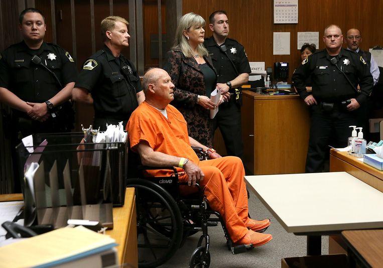 Joe DeAngelo in de rechtszaal.