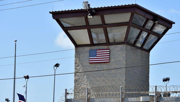 Wachttoren bij het gevangenenkamp in Guantánamo Bay Beeld afp