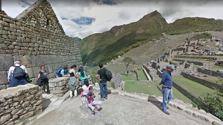De Machu Picchu op Google Maps. Beeld Google Maps.