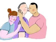 Mark is getrouwd met Hein, maar is 'liefdesmaatje' van Lise: 'We plakken geen label op onze relatie'