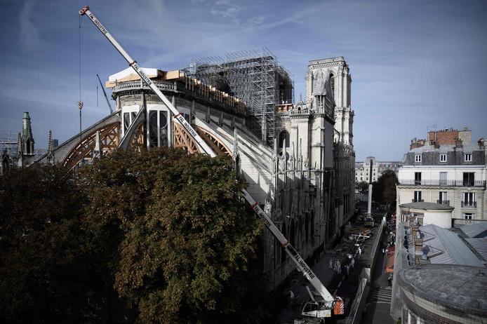 De Notre-Dame wordt gerestaureerd na de uitslaande brand die er woedde.