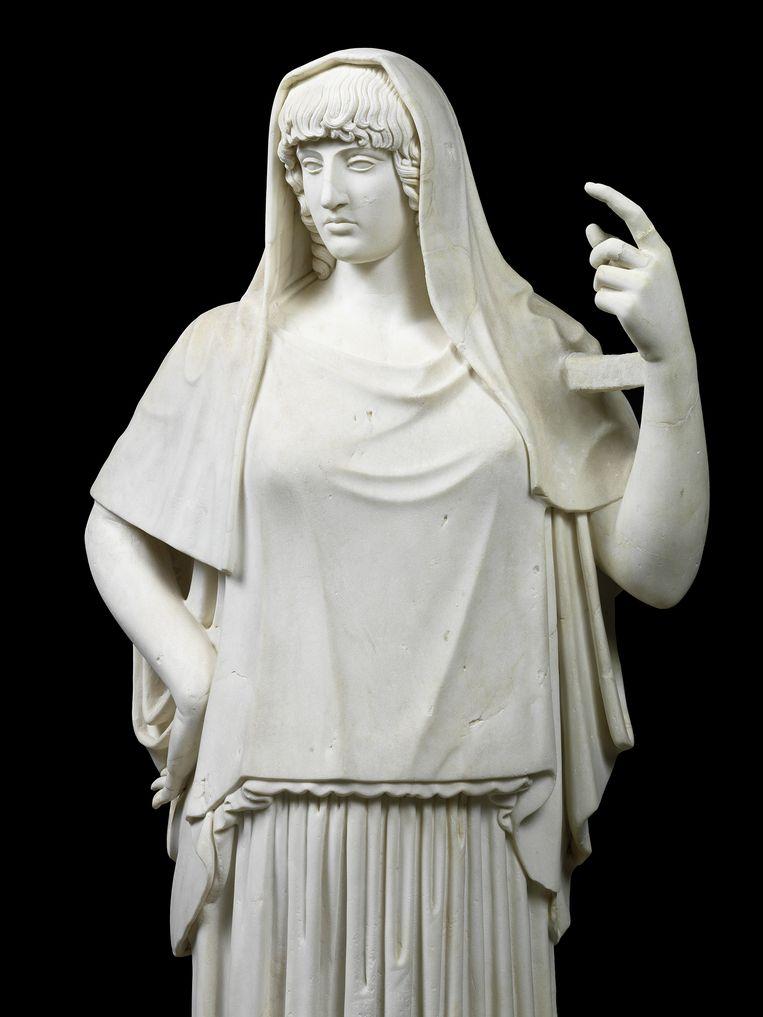 Standbeeld van de goddelijkheid, bekend als de Hestia van Giustiniani. Beeld FondazioneTorlonia