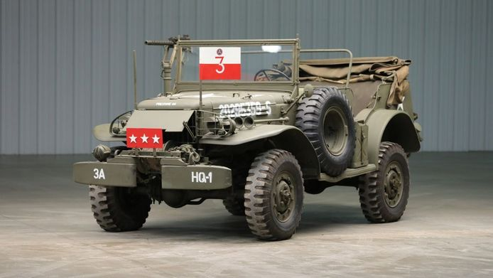 De commando-auto van Generaal Patton.