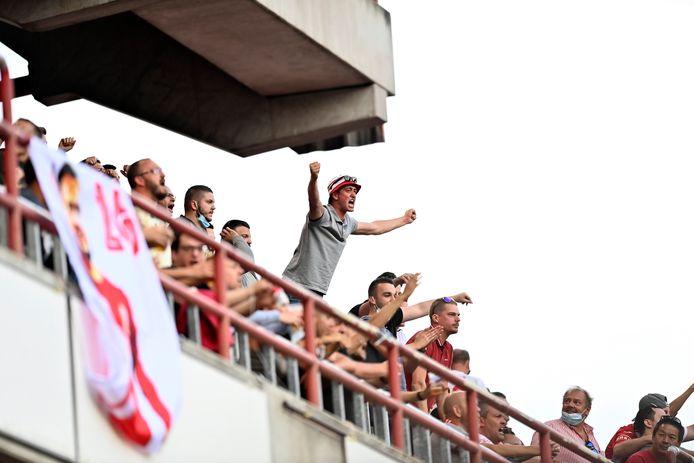 La victoire n'est pas au bout, mais les supporters du Standard ont apprécié la prestation de leur équipe.