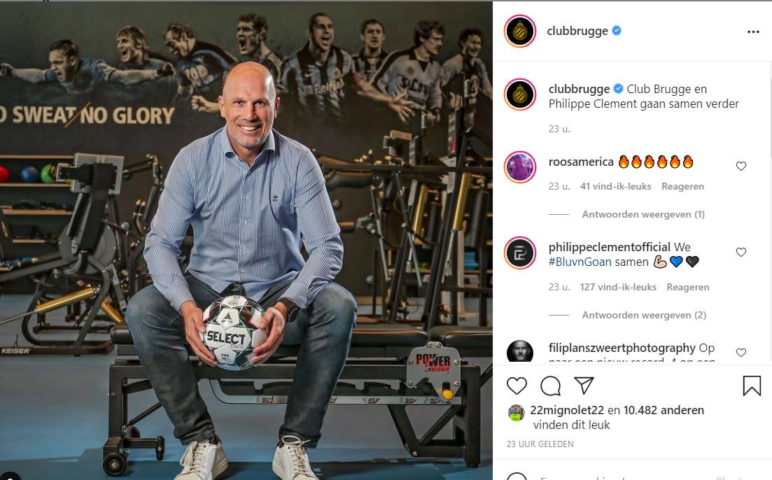 De bekendmaking van het nieuws op Instagram, met reacties van Roos Vormer en Clement zelf.