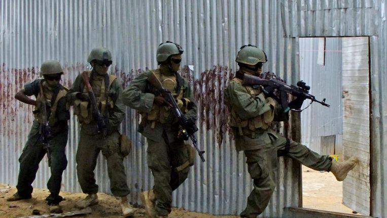 Somalische soldaten. Beeld ap
