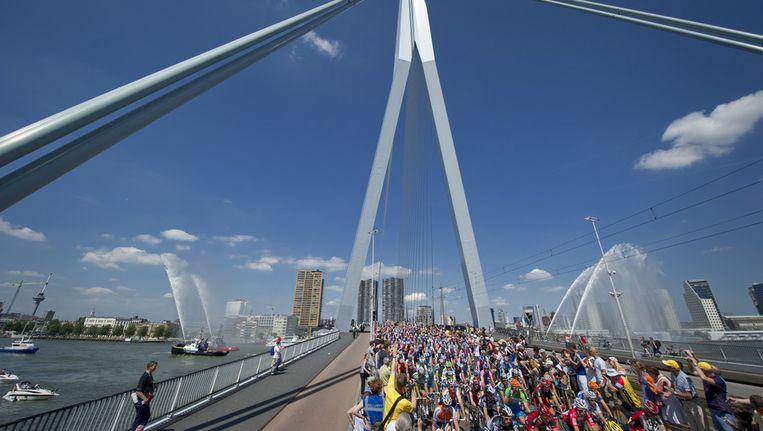De Tour de France startte voor het laatst in Nederland in 2010. Toen was Rotterdam de startplek. Beeld ANP