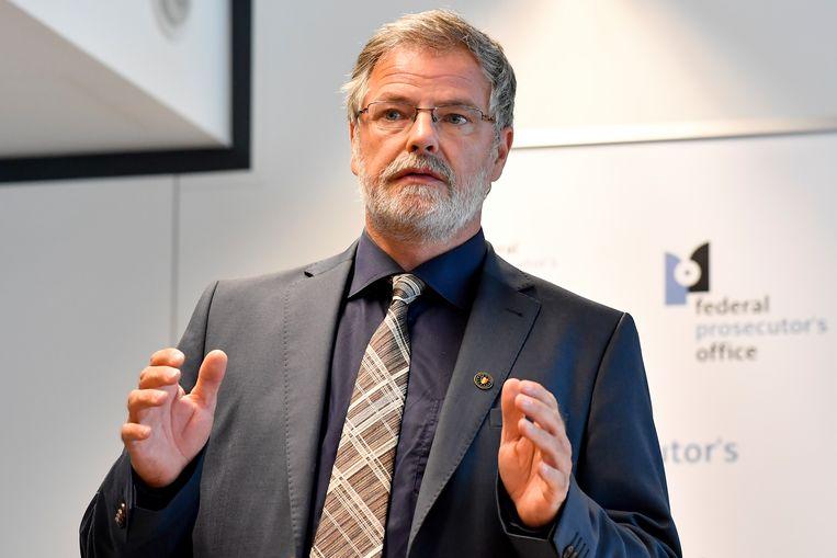 Woordvoerder van het federaal parket, Eric Van der Sypt. Beeld BELGA