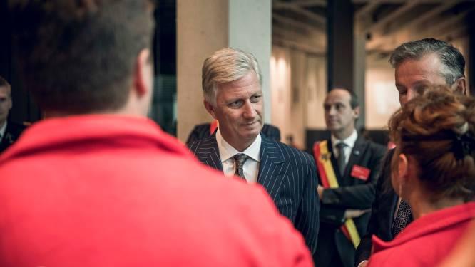 Koning Filip bezoekt transportbedrijf H.Essers in Genk