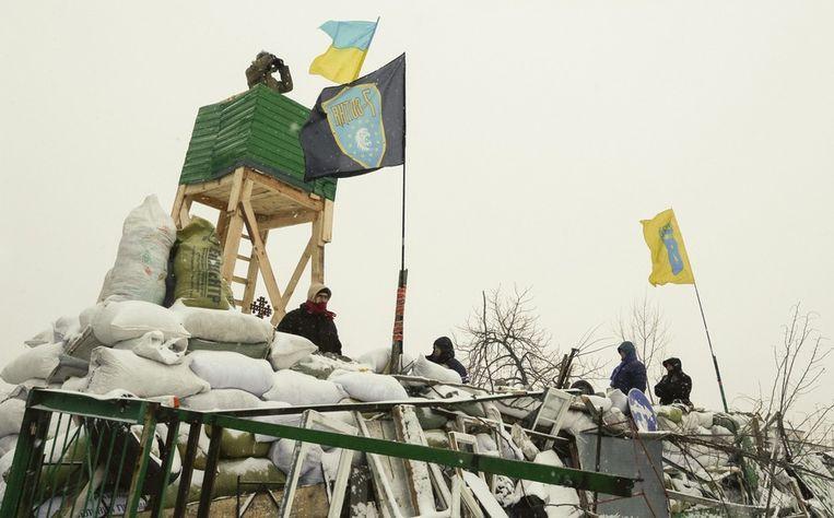 Barricades van de oppositie. Beeld epa