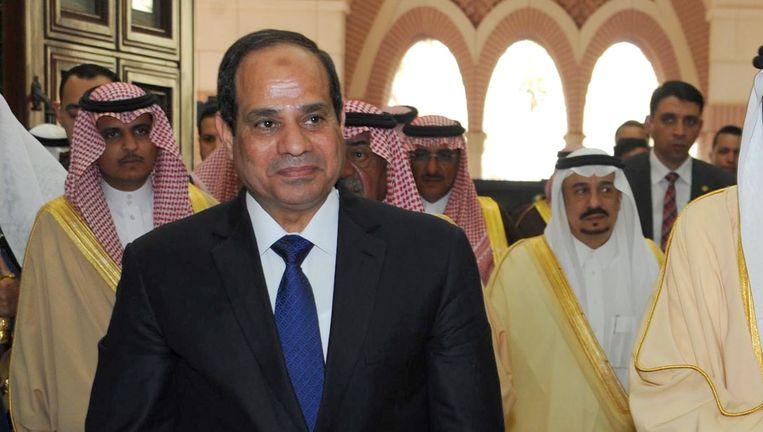 De Egyptische president Abdul Fatah al-Sisi. Beeld afp