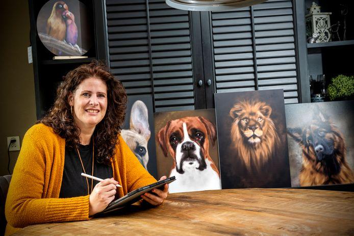Eva Capello tekent dieren zo na dat het lijkt dat ze bij haar aan tafel zitten.