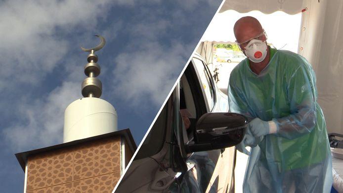 In Bergen op Zoom was vorige week twee dagen  een mobiele teststraat ingericht in de buurt van de El Feth Moskee omdat relatief veel mensen uit de Marokkaanse gemeenschap getroffen zijn door het coronavirus.