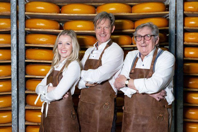 Céline, Filip en Josef De Wilde: kaasmeesters van familiebedrijf De Wilde uit Sint-Niklaas.