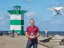 'Drone verliest het van de meeuw'