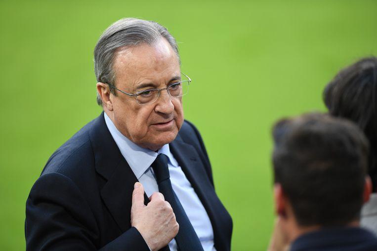 Real-voorzitter Florentino Pérez was één van de drijvende krachten achter de Super League. Beeld Andreas Gebert/dpa