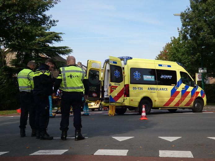 Het ongeval op 13 oktober op de Veldweg in  Veenendaal.