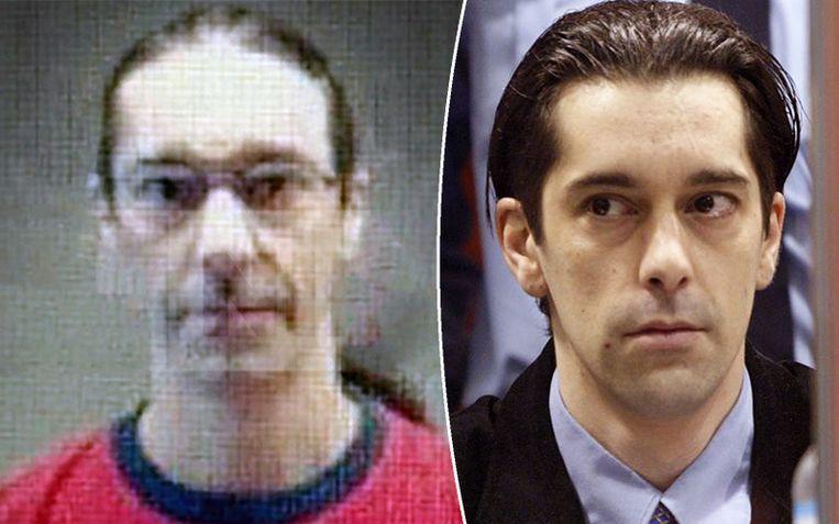 Michel Lelièvre ten rijde van zijn proces in 2004 (rechts) en meer recenter. Beeld VTM Nieuws