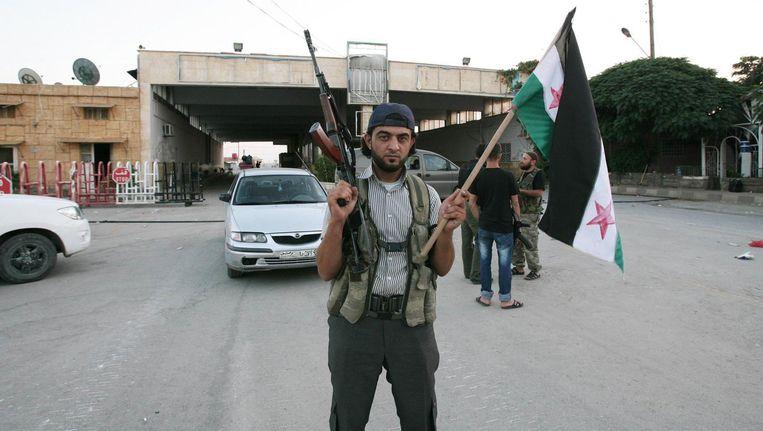 Archieffoto: een Syrische rebel in Bab al-Salam. Beeld afp
