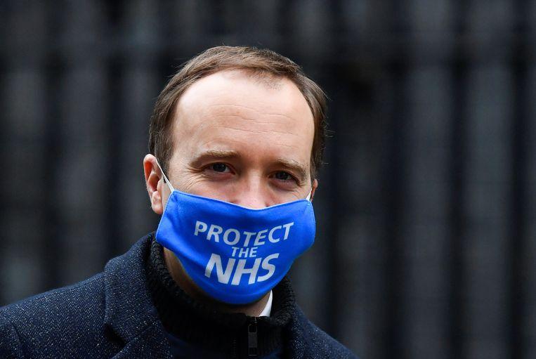 Brits minister van Volksgezondheid Matt Hancock. Beeld REUTERS