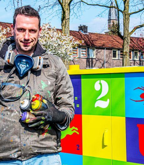 Kleurrijke kunst op elektriciteitskastjes is ook een speurtocht: 'Het knalt eraf'