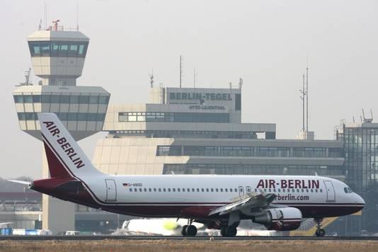 De Berlijnse luchthaven Tegel, archieffoto.