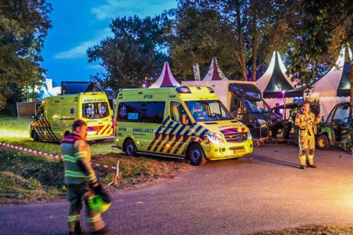 Er rukten meerdere ambulances uit naar het festival Gelderpop in Voorthuizen nadat daar de vlam in de pan was geslagen in een cateringswagen.