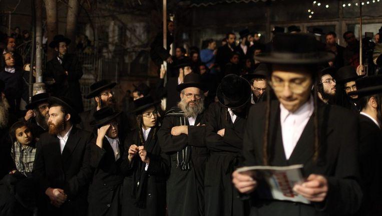 Ultra-orthodoxen bij een betoging, eerder dit jaar. De agent in kwestie staat niet op deze foto. Beeld afp