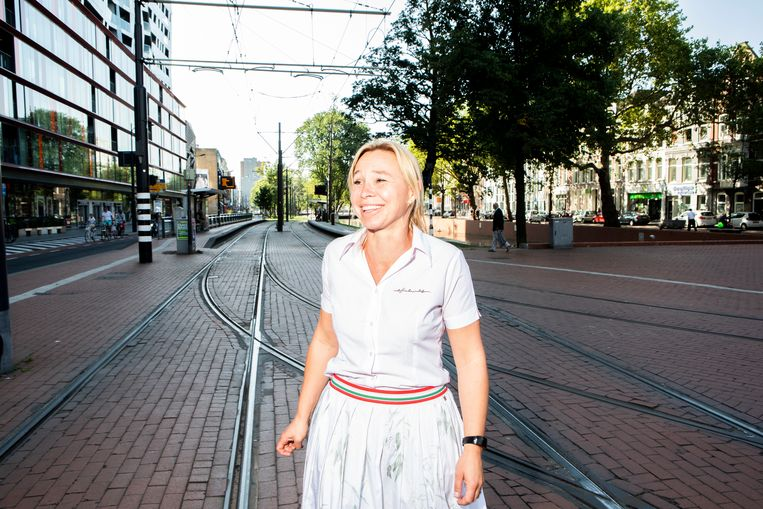 Brenda Froyen in Rotterdam. Beeld Hilde Harshagen