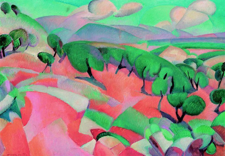 •Leo Gestel, Berglandschap (Mallorca), 1914, olieverf op doek, 70 x 100 cm, Singer Laren, schenking Collectie Nardinc Beeld Singer Laren, schenking Collectie Nardinc