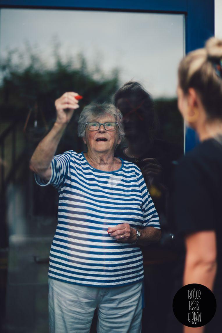 Boudewijn Wijnands: 'Het meest ludieke was het spelletje boter-kaas-en-eieren tegen het raam van een verzorgingshuis.' Beeld Coronahelpers