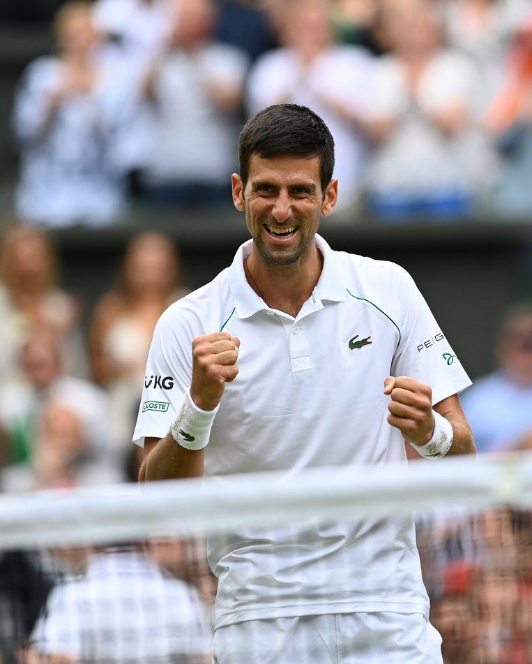 Voor Djokovic was het de 20ste grandslamtitel. Aan zijn reeks lijkt voorlopig geen einde te komen.  Beeld EPA