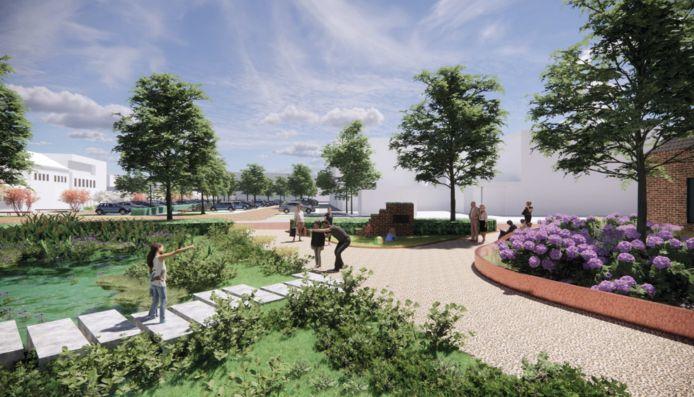 De omgeving van de Lambertusbasiliek moet de sfeer van een park krijgen.
