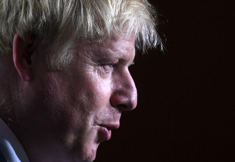 Premier Boris Johnson tijdens de G7-top in Biarritz. Beeld EPA